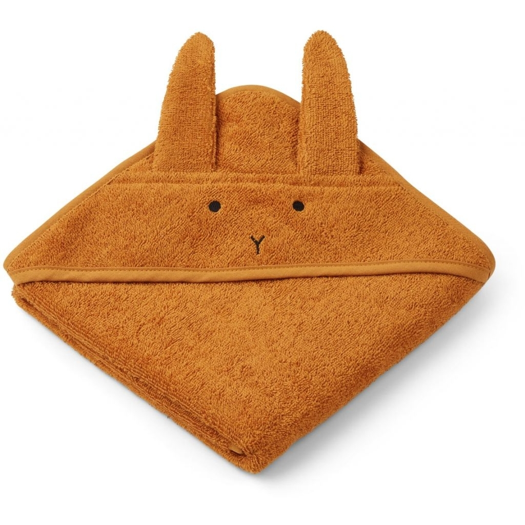 Liewood - Albert Hooded Baby Towel - Rabbit Mustard