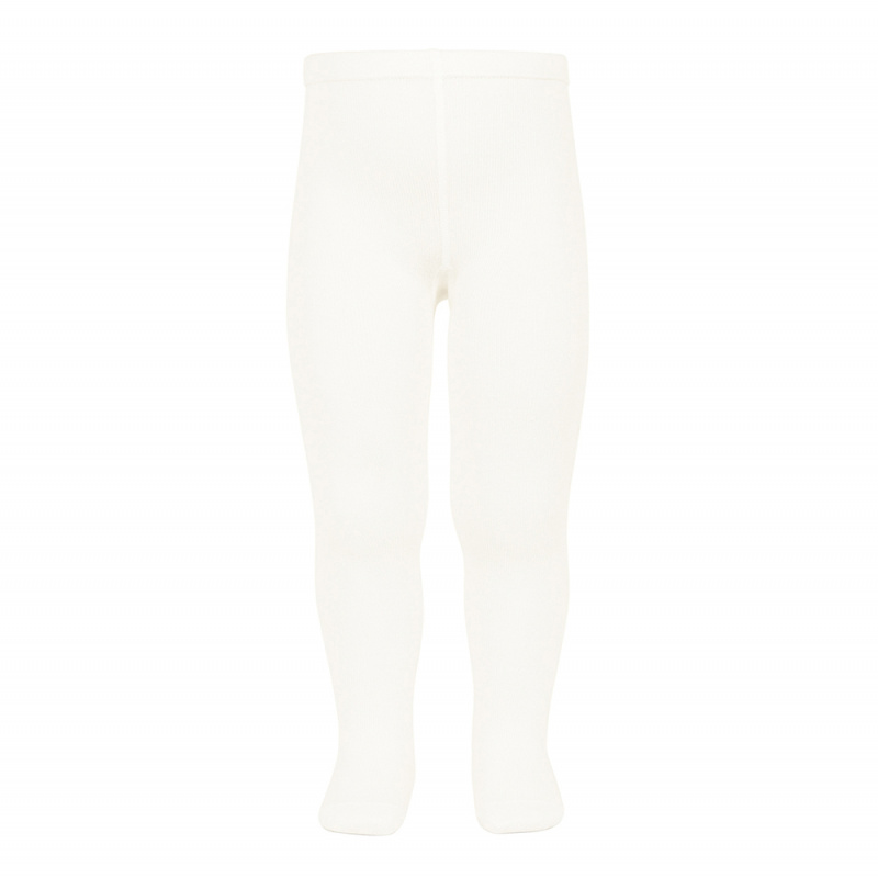 Cóndor - Plain Stitch Basic Tights - Cream