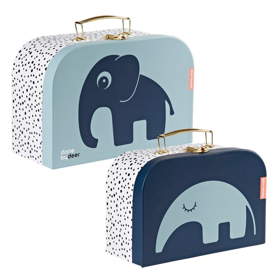 Done by deer - Suitcase Set 2 pcs Dear Friends - Blue